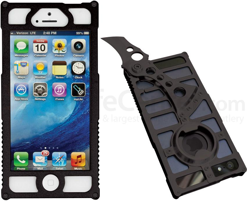 TactiCall Alpha 1 iPhone 5 Aluminum Case, Black