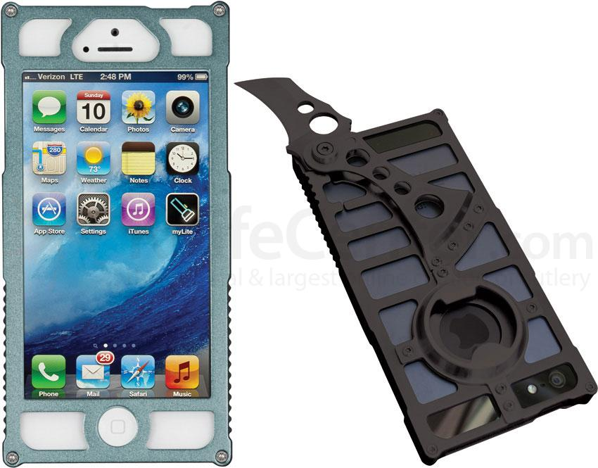TactiCall Alpha 1 iPhone 5 Aluminum Case, Charcoal