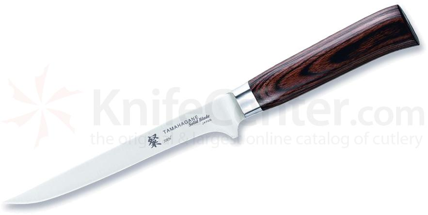 Tamahagane Knives San Series 6-1/4 inch Flexible Boning Knife, Wood Handles