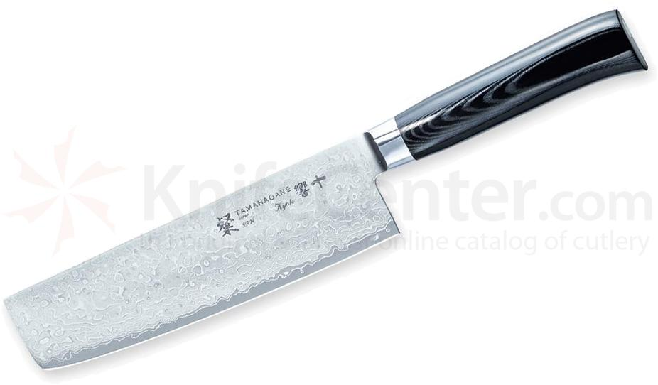 Tamahagane Knives San Kyoto Series 7 inch Vegetable Knife, Micarta Handles