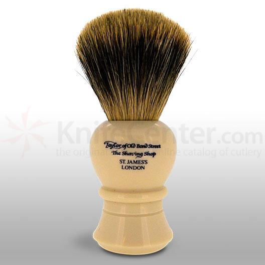 Taylor of Old Bond Street P2236 Pure Badger 12.75 cm Large Shaving Brush, Faux Ivory Handle