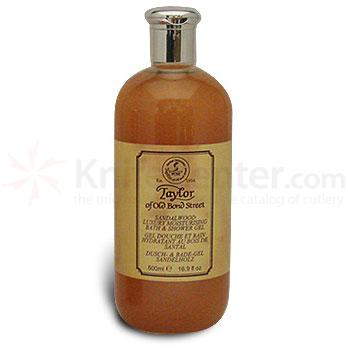 Taylor of Old Bond Street Sandalwood Luxury Moisturizing Bath and Shower Gel 16.9 oz (500ml)