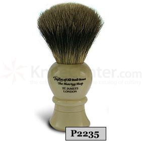 Taylor of Old Bond Street P2235 Pure Badger Shaving Brush, Medium, Bulbous Shaped Handle