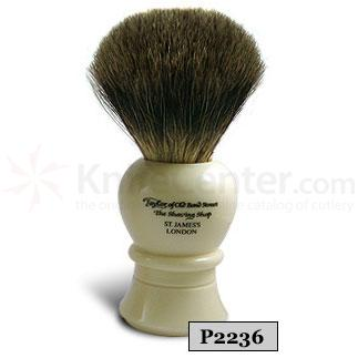 Taylor of Old Bond Street P2236 Pure Badger Shaving Brush, Large, Bulbous Shaped Handle