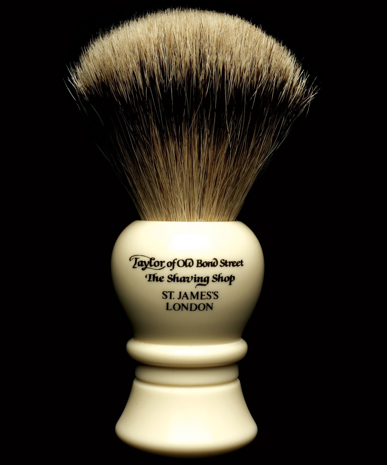 Taylor of Old Bond Street S2235 Super Silvertip Badger Shaving Brush, Medium, Bulbous Shaped Handle