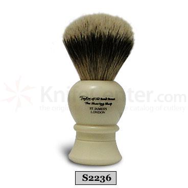 Taylor of Old Bond Street S2236 Super Silvertip Badger Shaving Brush, Large, Bulbous Shaped Handle