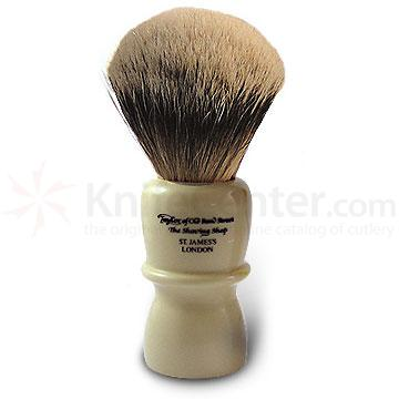 Taylor of Old Bond Street S40 Super Silvertip Badger Shaving Brush, Very Large (13cm), Bulbous Shaped Handle