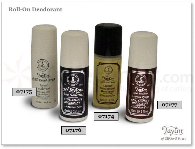 Taylor of Old Bond Street Herbal Roll-On Deodorant with Aloe Vera 2 oz (60g)