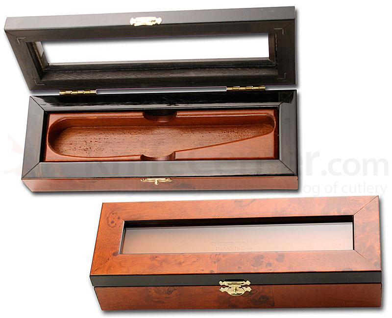 Thiers Issard Empty Deluxe Elm Burl Box for 2 Razors Handmade France