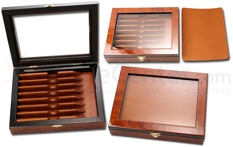 Thiers Issard Empty Deluxe Elm Burl Box for 7 Razors Handmade France
