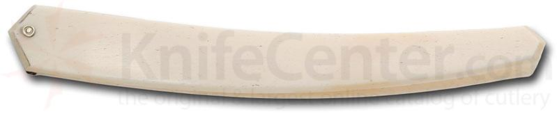 Thiers-Issard Straight Razor Handle in White Horn (bone)