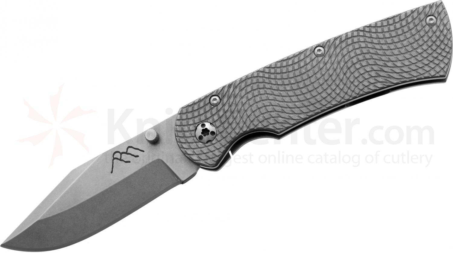 Three Sisters Forge Custom Beast Folder 3 inch S35VN Clip Point Blade, Milled Titanium Handles