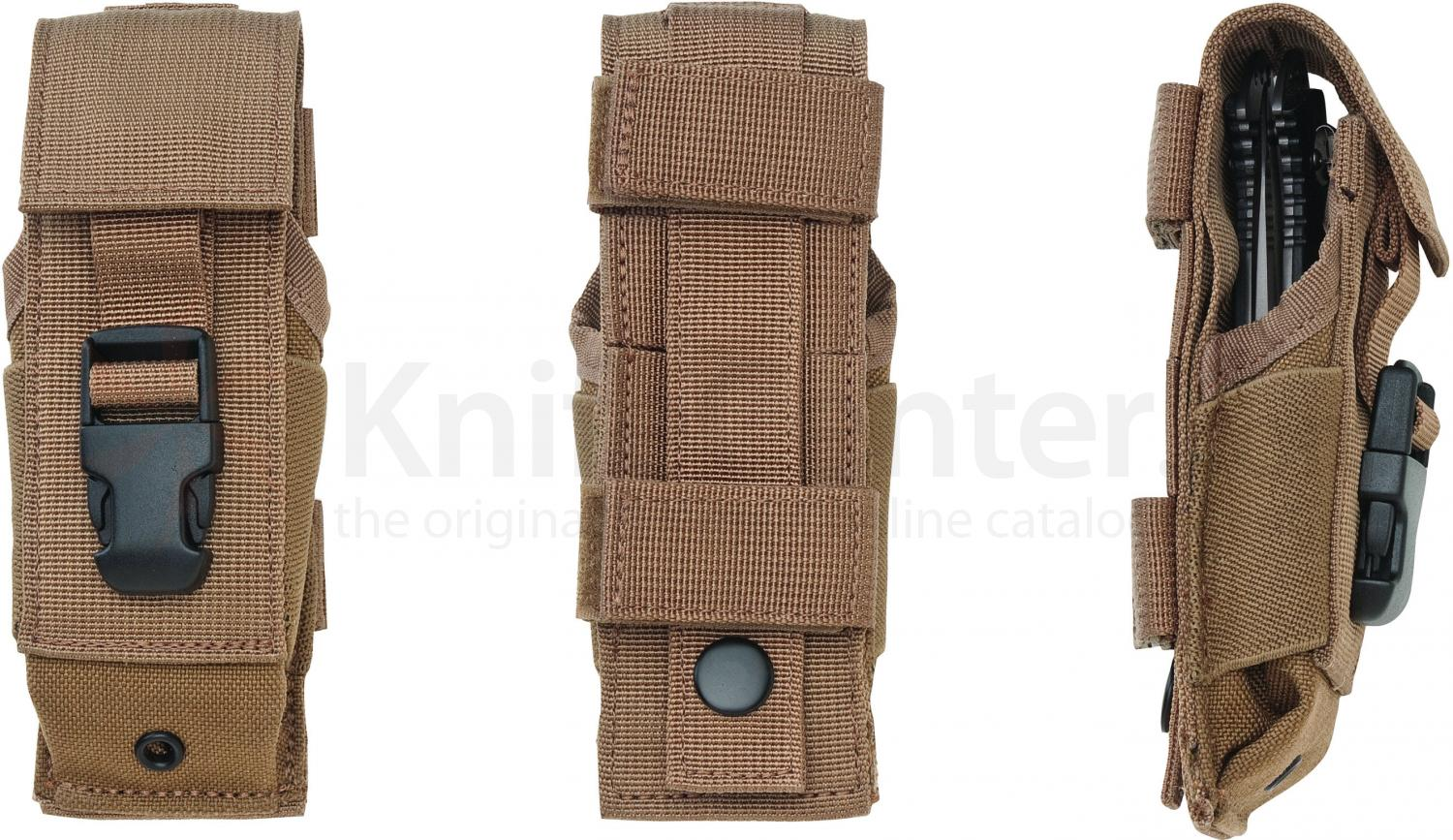 Timberline Tactical Ballistic Nylon Dual Carry MOLLE Sheath, Coyote-Tan