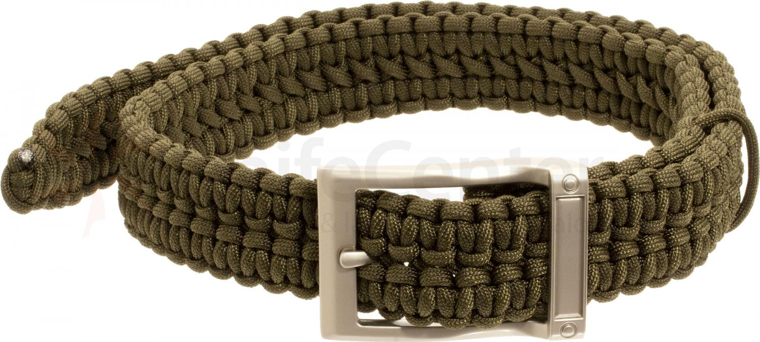 Timberline Paracord Survival Belt, Olive, Medium (5110)