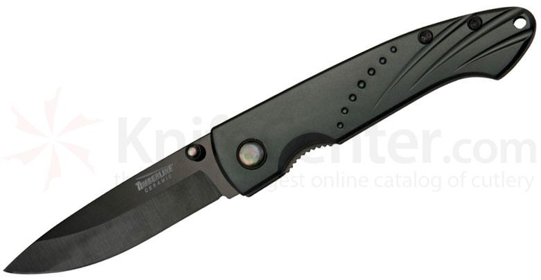 Timberline Ceramic Folding Knife 2.75 inch Mirror Polish Blade, Aluminum Handles