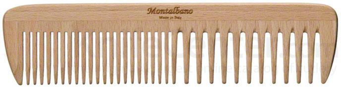 Tondeo 1001 Italian Wood Hair Comb Medium Size with Wide and Fine Curved Teeth