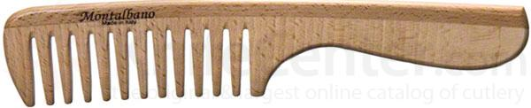 Tondeo 1003-G Italian Wood Hair Comb with Handle 8.75 inch