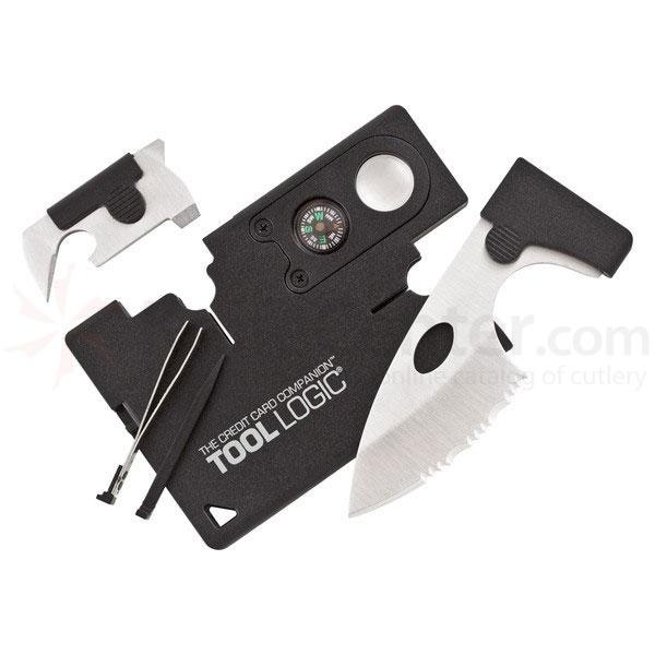Tool Logic Credit Card Companion with Lens and Compass, Black (CC1SB)