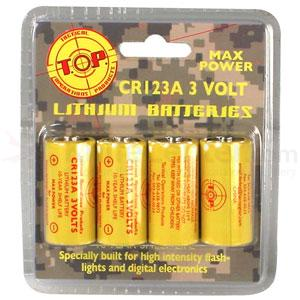 T.O.P. Stryker High Power 3v Lithium Battery, 4 Pack