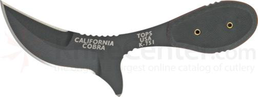 TOPS Knives 3 inch California Cobra with Black G-10 Handles