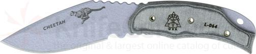 TOPS Knives 3-1/4 inch Cheetah with Black Micarta Handles, Kydex Sheath