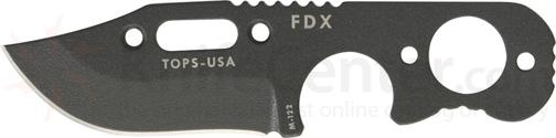 TOPS Knives FDX Field Duty Extreme 3 inch Hunter Point Blade with Skeleton Handles