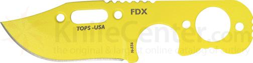 TOPS Knives FDX Field Duty Extreme 3 inch Code Yellow Hunter Point Blade with Skeleton Handles