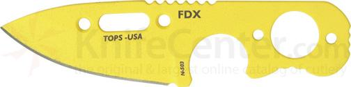 TOPS Knives FDX Field Duty Extreme 3 inch Code Yellow Spear Point Blade with Skeleton Handles