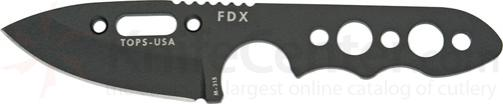 TOPS Knives FDX Field Duty Extreme XL 3 inch Spear Point Blade with Skeleton Handles