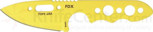 TOPS Knives FDX Field Duty Extreme XL 3 inch Code Yellow Spear Point Blade with Skeleton Handles
