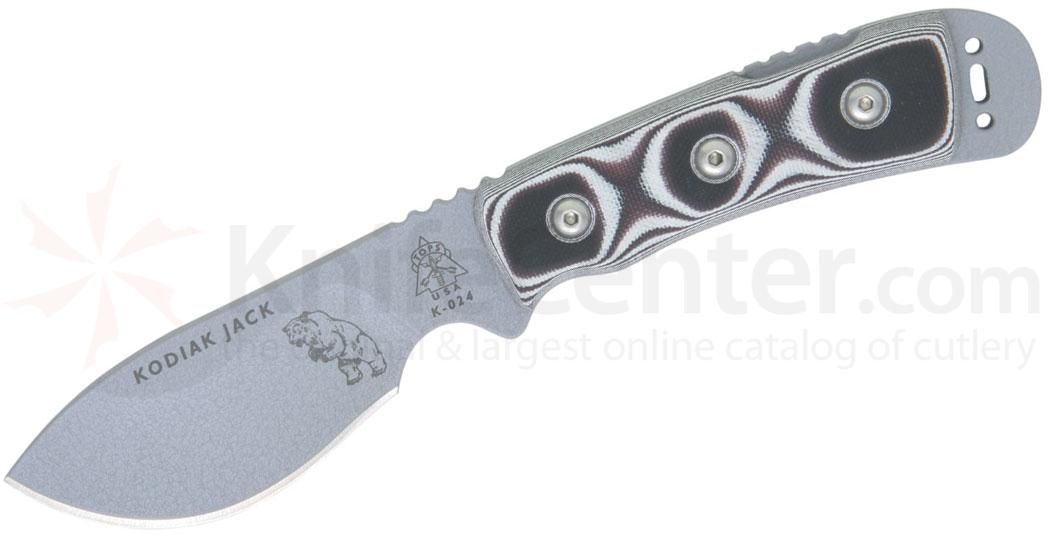 TOPS Knives 4-1/4 inch Kodiak Jac with Black and White G-10 Handles