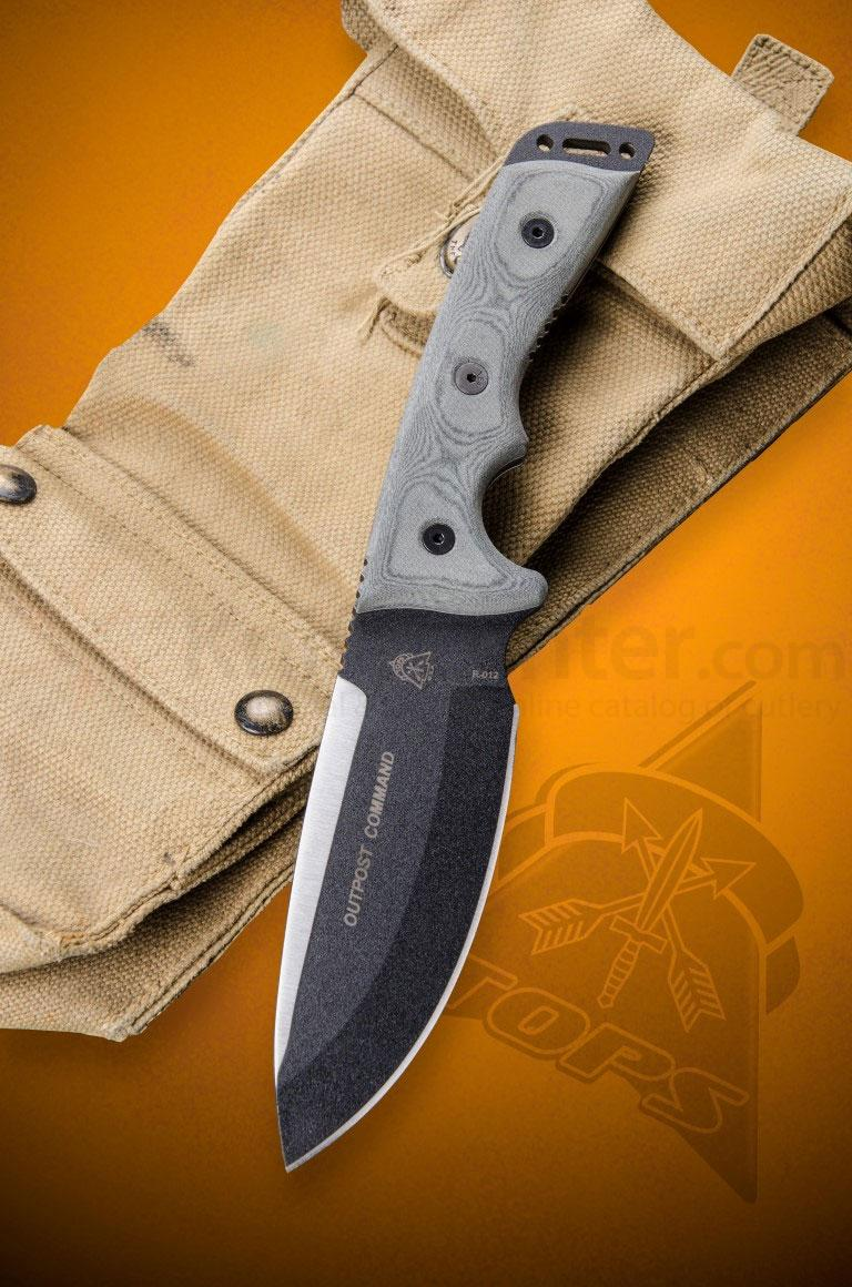 "TOPS Knives Outpost Command Fixed 5-3/4"" 1095 Carbon Blade"