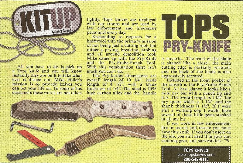 TOPS Knives Pry Knife and PPP Tool (TPK-001) - KnifeCenter