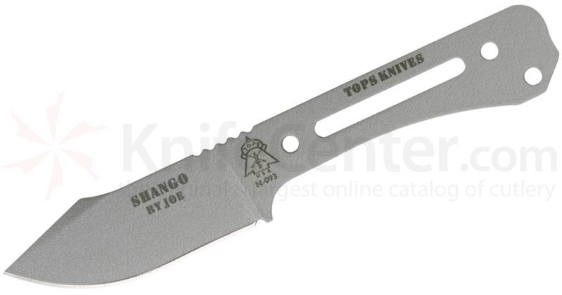 TOPS Knives Shango Neck Knife 2-3/4 inch 440C Blade, Skeletonized Steel Handle, Kydex Sheath