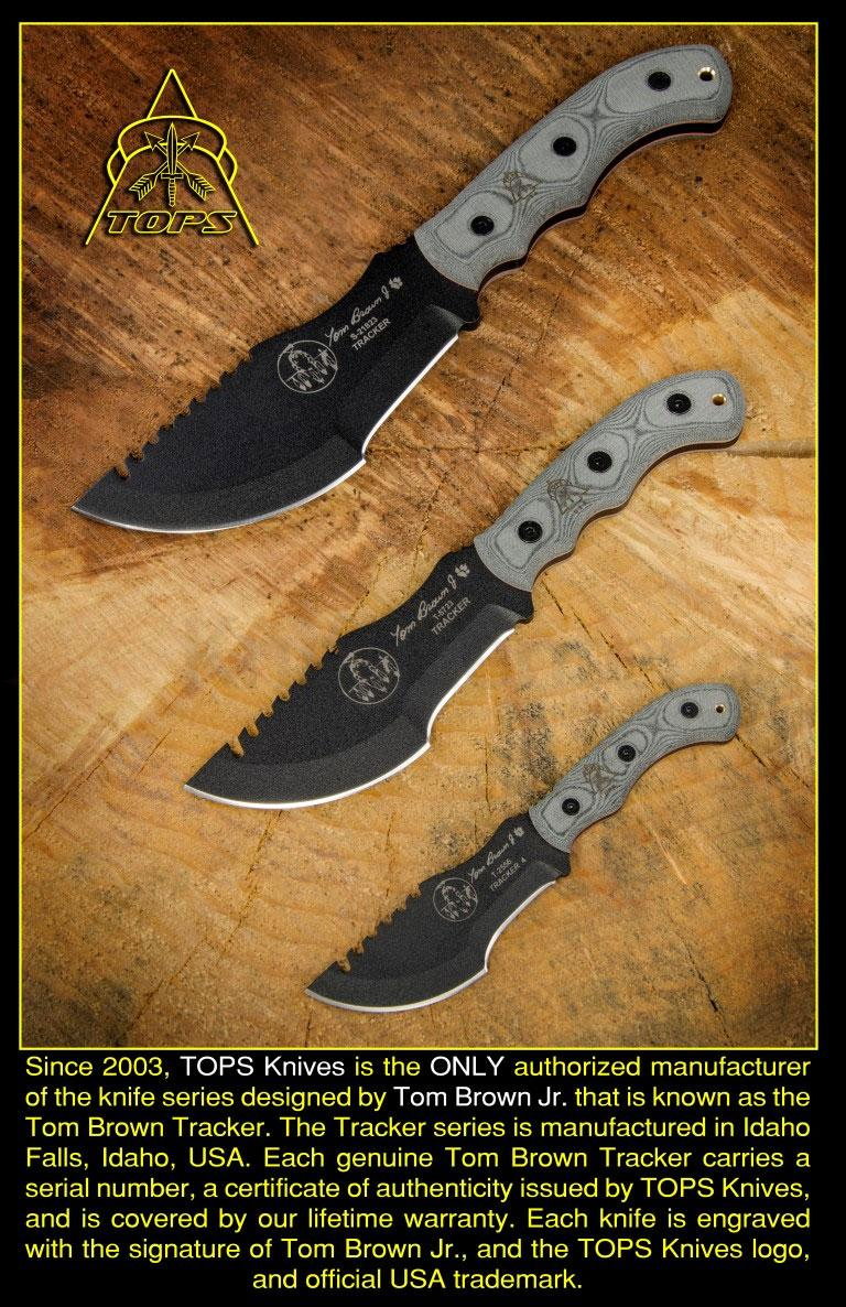 "TOPS Knives Tom Brown Tracker #2 Fixed 3-1/2"" 1095 Carbon"