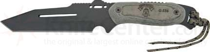 Tops Hawk Recon 6-3 /8 inch Combat Tanto Blade Micarta Handle