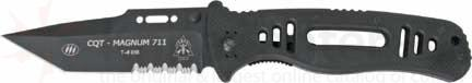 TOPS CQT Magnum 711 w/Black G-10 Handle & 4.5 inch Partially Serrated Tanto n690co Blade