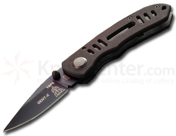 TOPS CQT Gent-X Folder w/Textured G-10 Handle & 2.5 inch Blade