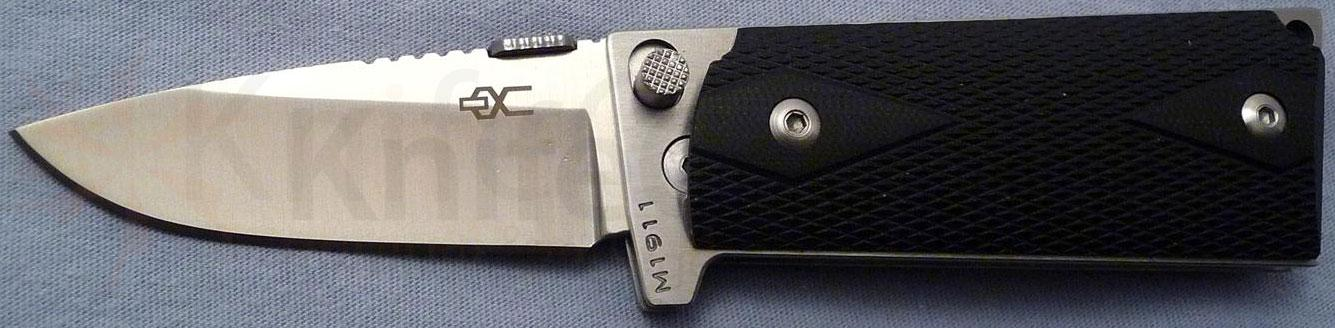 Ultimate Equipment M1911 Compact Folding 2.9 inch Plain Satin Polished Blade, Black G10 Grips