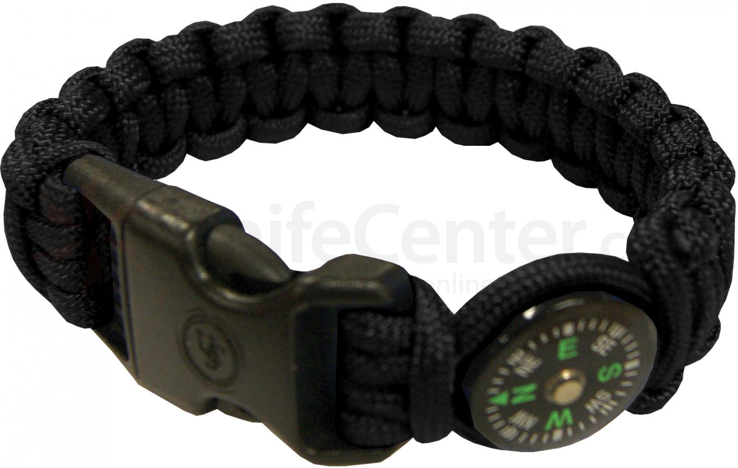 UST Ultimate Survival Paracord Survival Compass Bracelet, Black (20-295-345-E5)