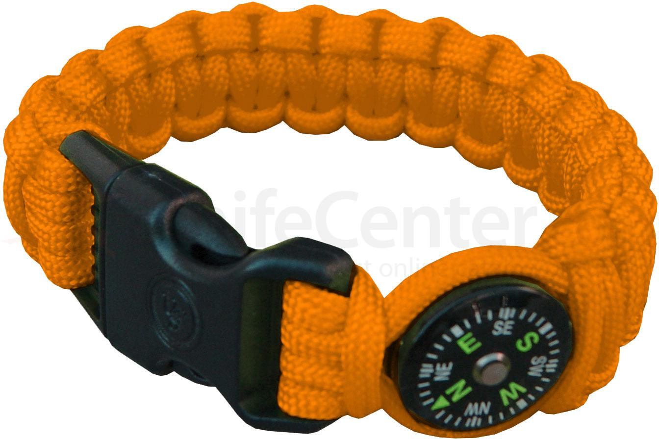 UST Ultimate Survival Paracord Survival Compass Bracelet, Orange (20-295-345-N18)