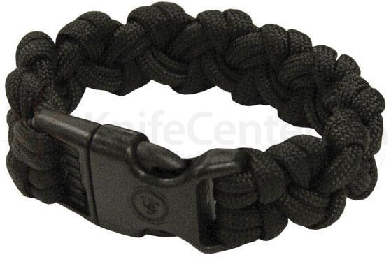 Ultimate Survival 550 Paracord Survival Bracelet with Basic Clasp, Black (20-295-354-E5)