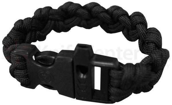 UST Ultimate Survival 550 Paracord Survival Bracelet with Whistle Clasp, Black (20-295-355-E5)