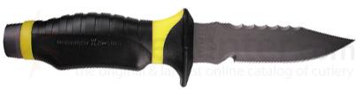 Underwater Kinetics Black and Yellow 5 inch Drop Point Titanium Dive Knife
