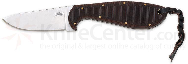United Cutlery Sierra Skinner 3-1/8 inch Fixed Blade with Leather Sheath