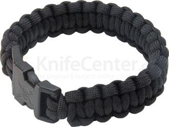 United Cutlery 7 inch Elite Forces Paracord Survival Bracelet, Black