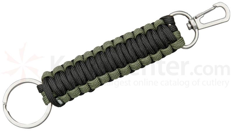 United Cutlery Elite Forces Paracord FOB Keychain, OD Green / Black
