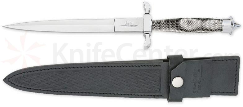 Gil Hibben Silver Shadow Dagger 7-1/2 inch Double Edge Blade, Wire Wrap Handle