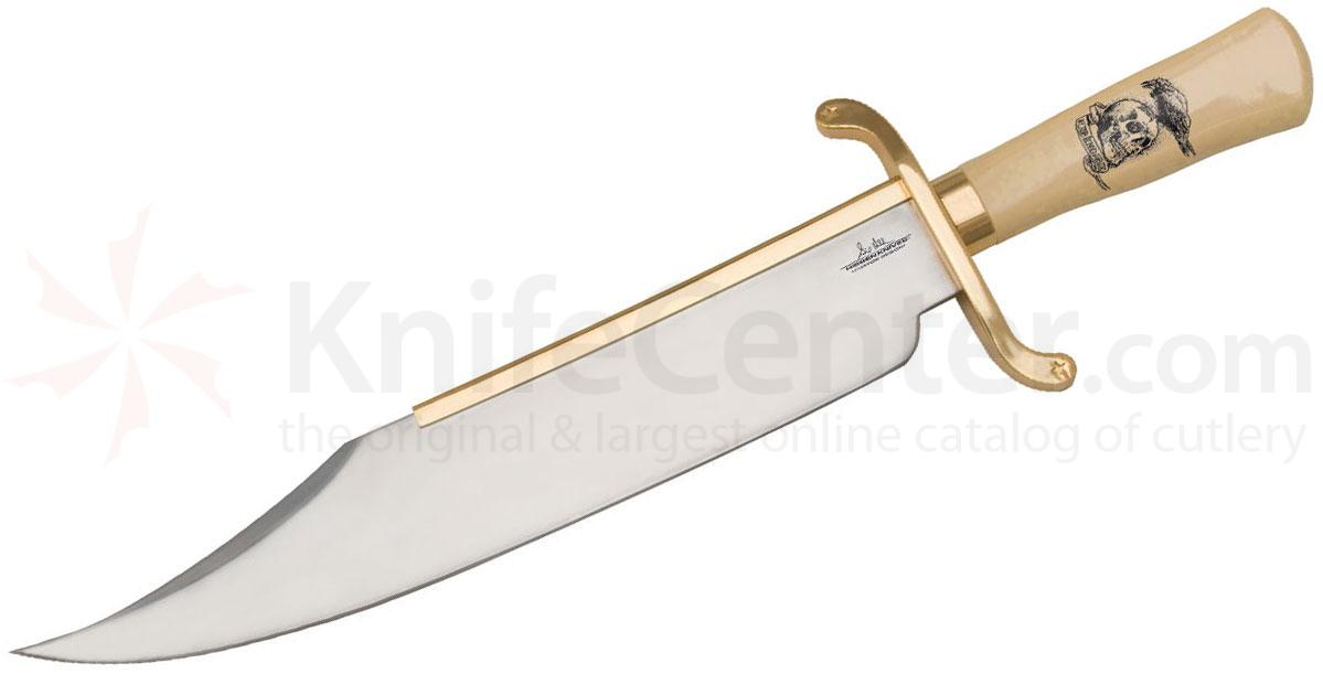 United Cutlery Gil Hibben Expendables Bowie Knife 14 inch Mirror Polish Blade, Synthetic Ivory Handles (GH5017)