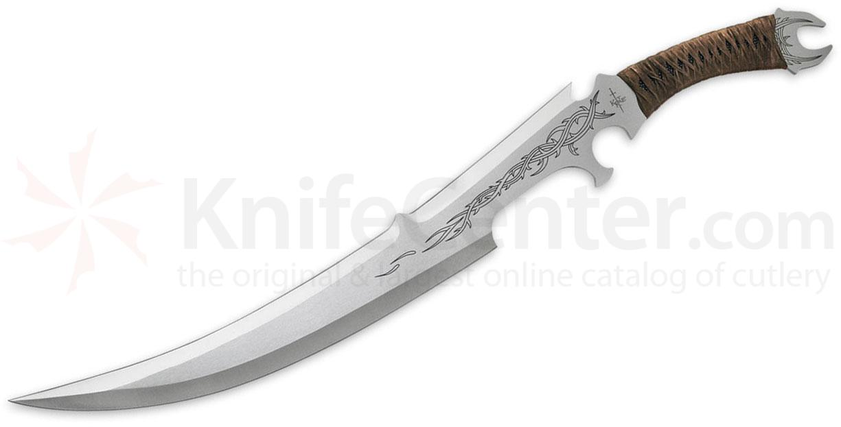 United Cutlery Kit Rae Mithrokil Short Sword 15-1/2 inch Blade, Leather Wrapped Handle